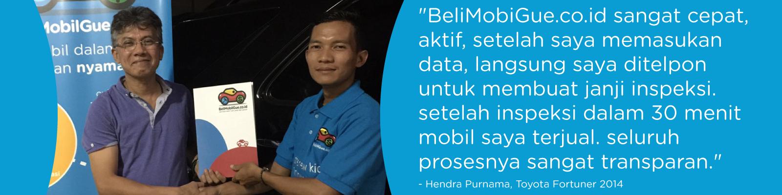 Testimonial BeliMobilGue.co.id